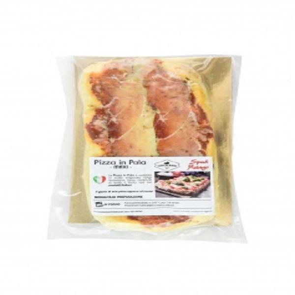 Pizza in pala Speck di Asiago e Asiago Dop
